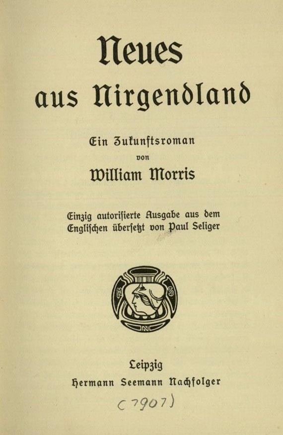 William Morris - Neues aus Nirgendland. 1901