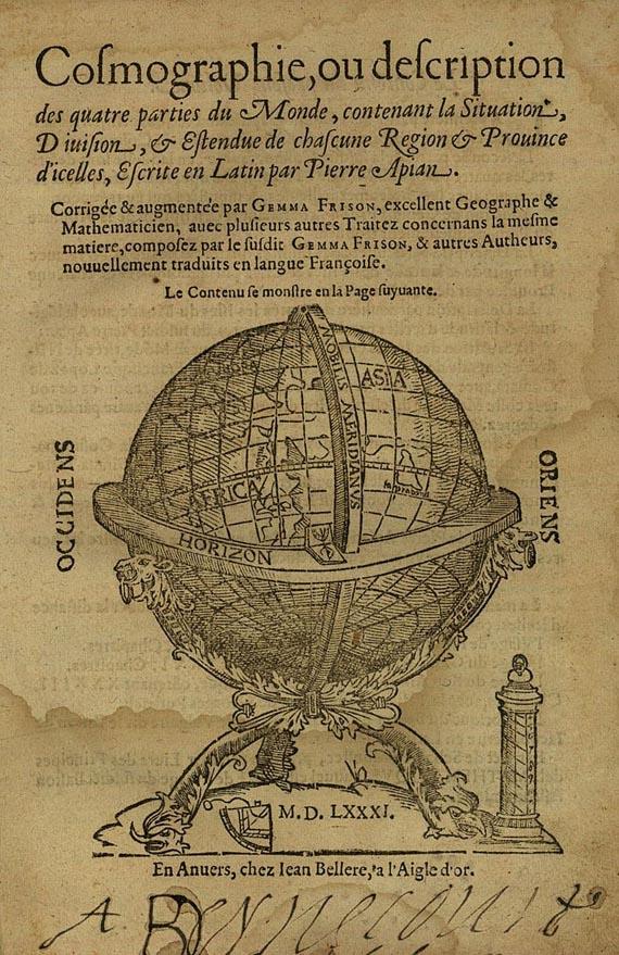 Peter Apian - Cosmographie. 1581