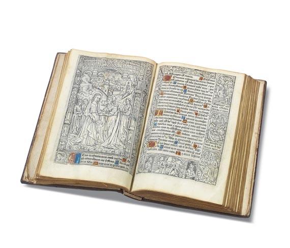 Stundenbuch - Lat. Stundenbuch auf Pergament. Paris 1498.