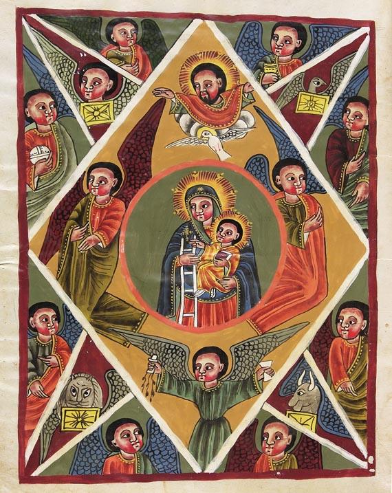 Manuskripte - Buch des Begräbnisses. Äthiop. Manuskript. 19.Jh.