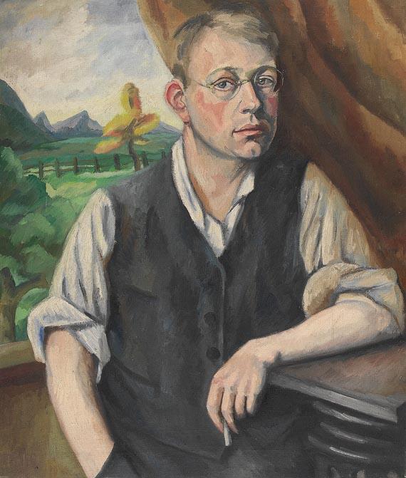 Otto Nückel - Jugendliches Selbstbildnis