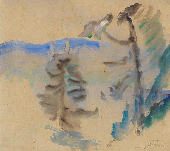 Lovis Corinth - Blick von Urfeld auf den Walchensee