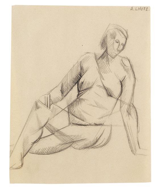 André Lhote - Sitzender weiblicher Akt mit aufgestütztem Arm