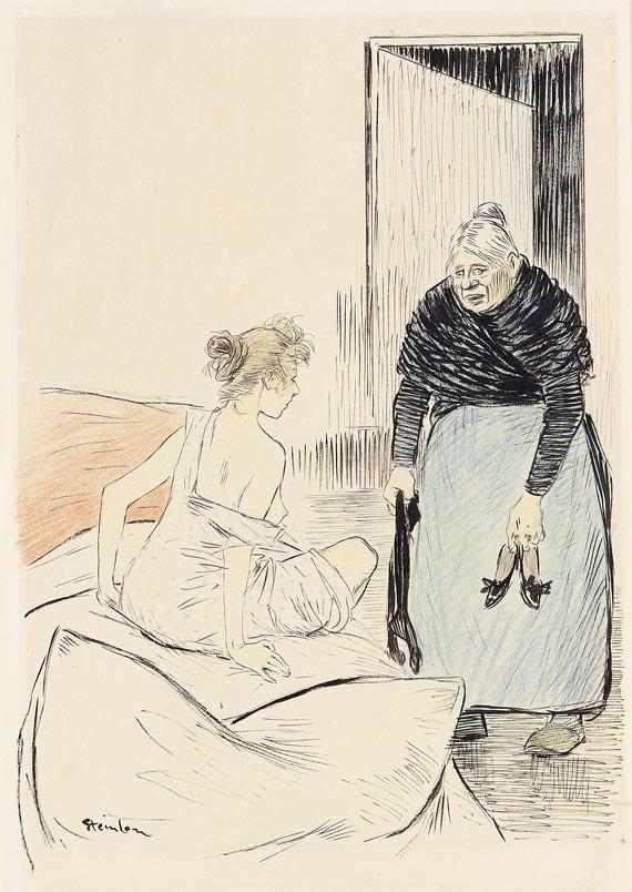 Théophile Alexandre Steinlen - La Fille surprise