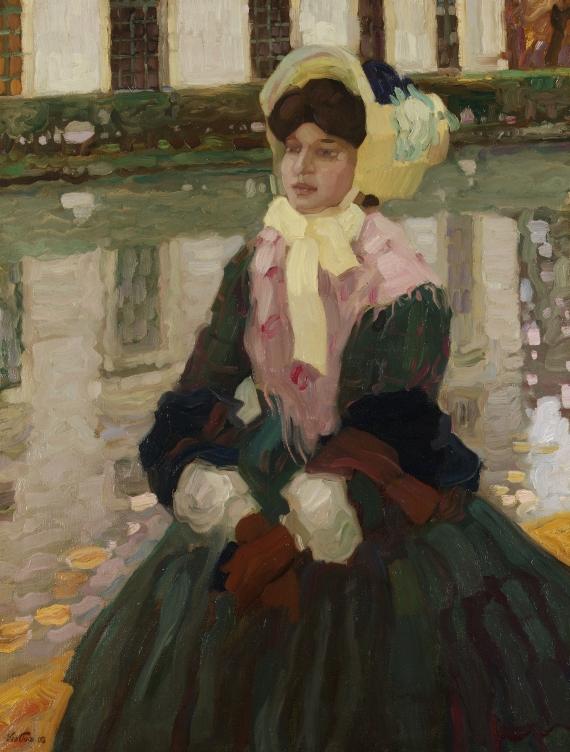 Leo Putz - Porträt Veronika Kirmair im Schleissheimer Garten