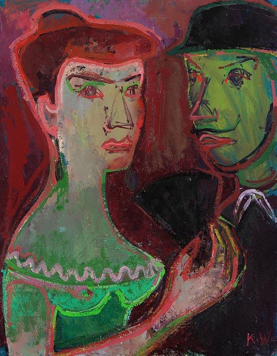 Karoline Wittmann - Paar im Theater (Dame mit Fächer in Herrenbegleitung)