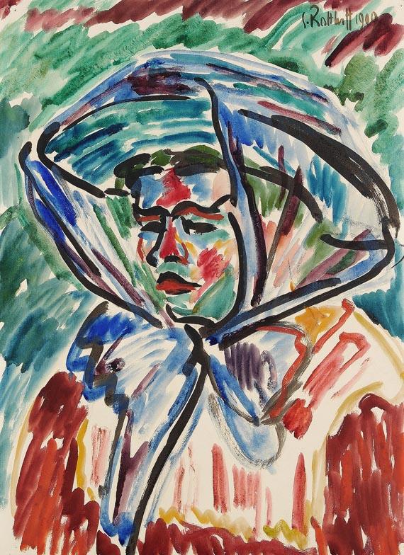 Karl Schmidt-Rottluff - Mädchen mit blauem Schal