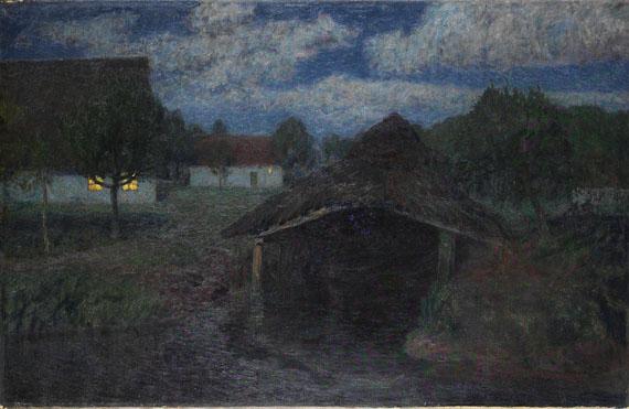 Fritz Overbeck - Mondnacht III (Seehausen)