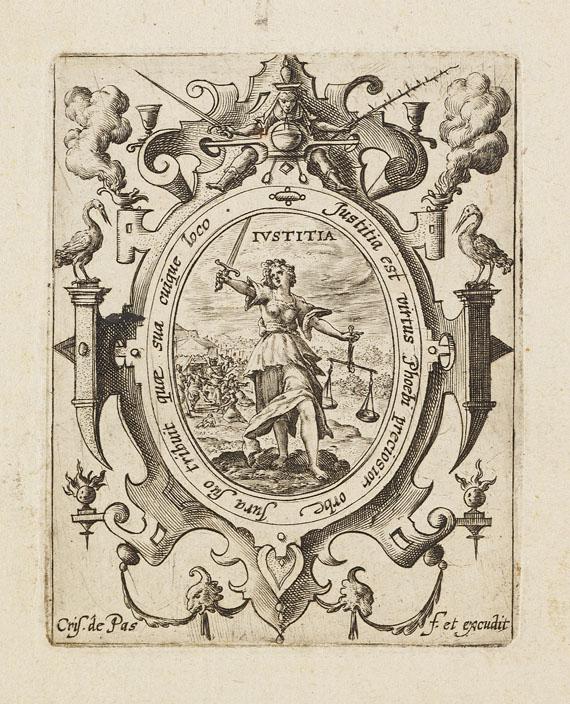 Crispijn de Passe - 6 Blätter aus: Die sieben Tugenden