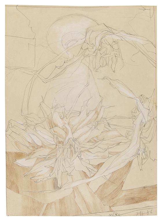 Horst Janssen - Florale Komposition
