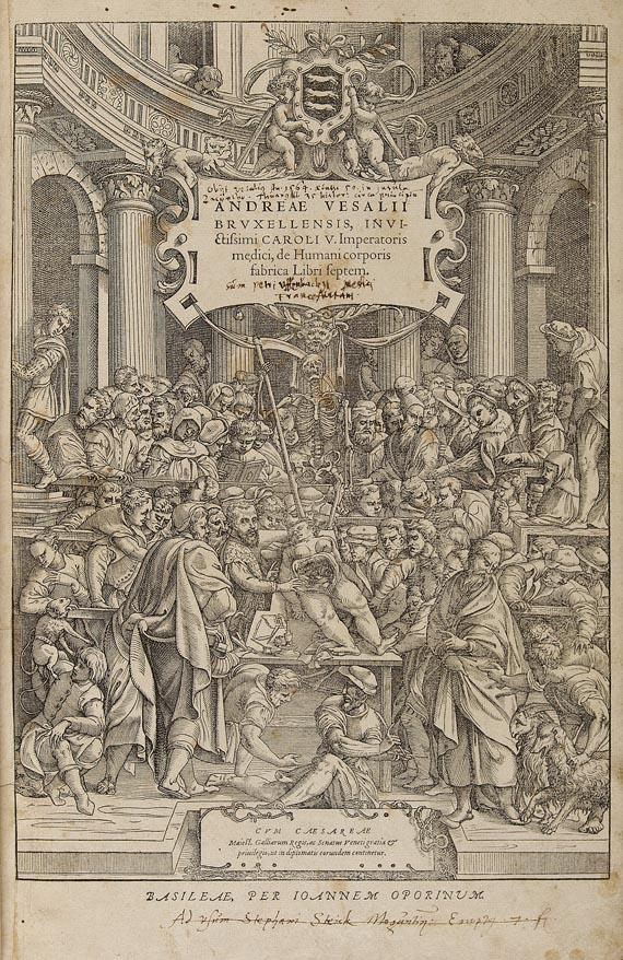 Andreas Vesalius - De humani corporis. 1555
