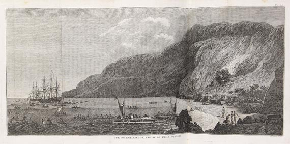 James Cook - Cartes et figures, 3 Bde. + 4 Bde. Troisieme Voyage. 1785