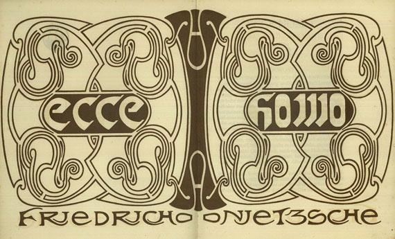 Henry van de Velde - Nietzsche, Friedrich, Ecce homo, [1908].