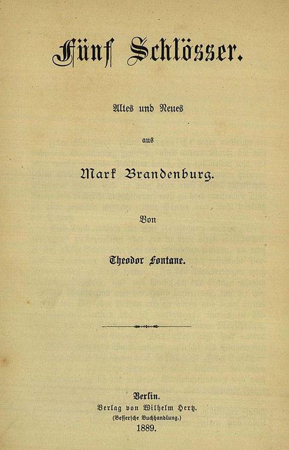 Theodor Fontane - Fünf Schlösser, 1889. [114]