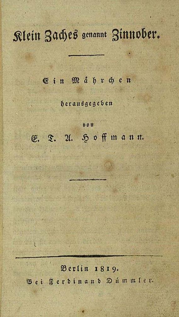 Ernst Theodor Amadeus Hoffmann - Klein Zaches, 1819. [147]