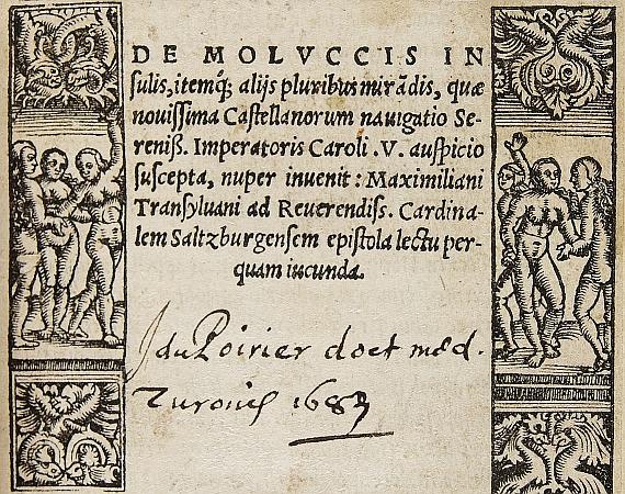 Maximilianus Transsylvanus - De moluccis insulis. 1523
