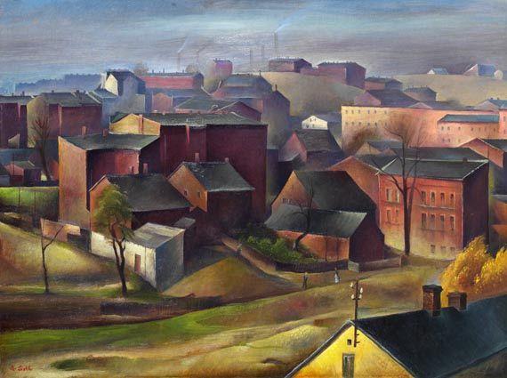 Albert Birkle - Stadtansicht (Oberschlesien)