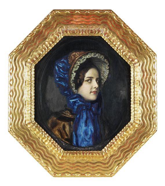 Franz von Stuck - Mary mit Biedermeierhut -