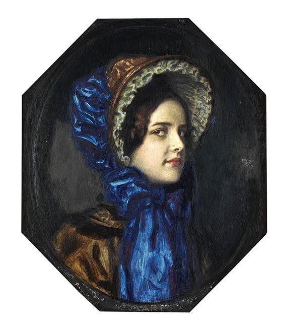 Franz von Stuck - Mary mit Biedermeierhut