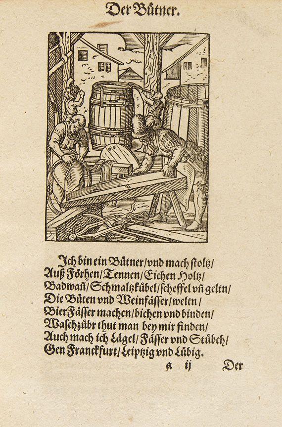 Hans Sachs - Beschreibung aller Stände. 1574. -