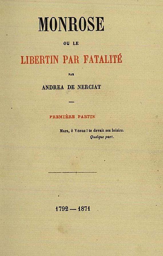 Andréa de Nerciat - Monrose. 4 Bde. 1871 (15)