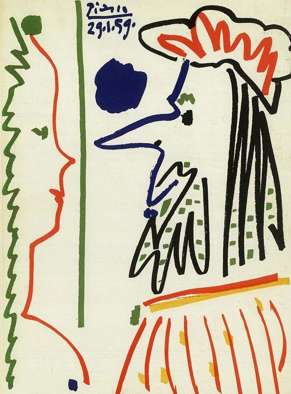 Pablo Picasso - 4 Werke, 1957.