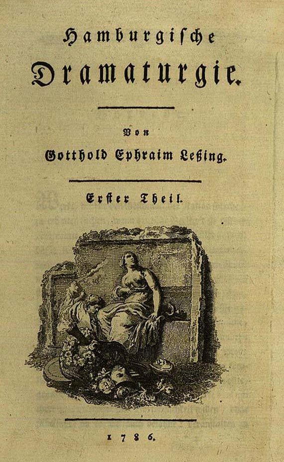 Gotthold Ephraim Lessing - Hamburgische Dramaturgie, 2 Bde. 1769. (83)