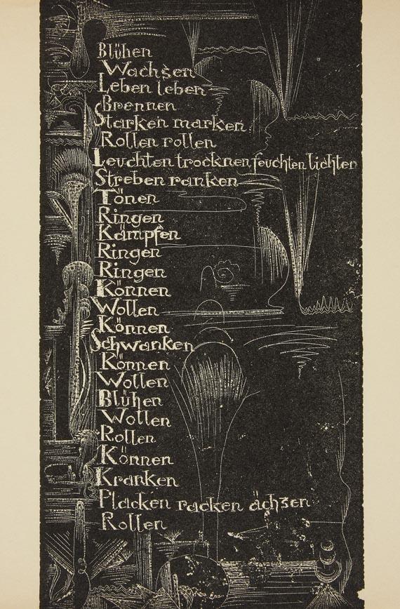 Hamburger Handdrucke - Meier-Thur, Hugo, Weltwehe, (1922). (103)