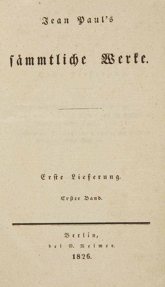 (d. i. J. P. Friedrich Richter Jean Paul - Sämmtliche Werke, 24 Bde. 1826. (56)