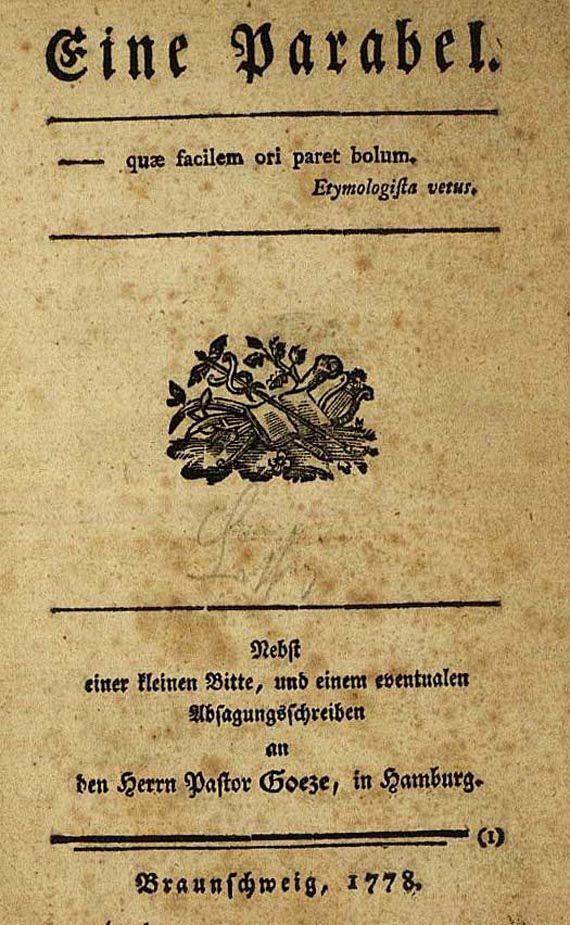 Gotthold Ephraim Lessing - Eine Parabel, 1778. (81)