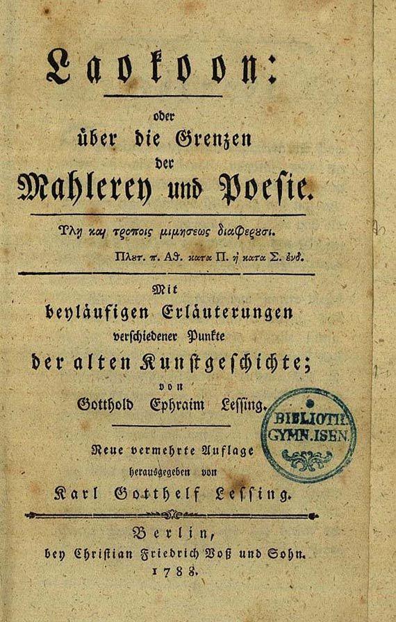 Gotthold Ephraim Lessing - Laokoon, 1788. (85)