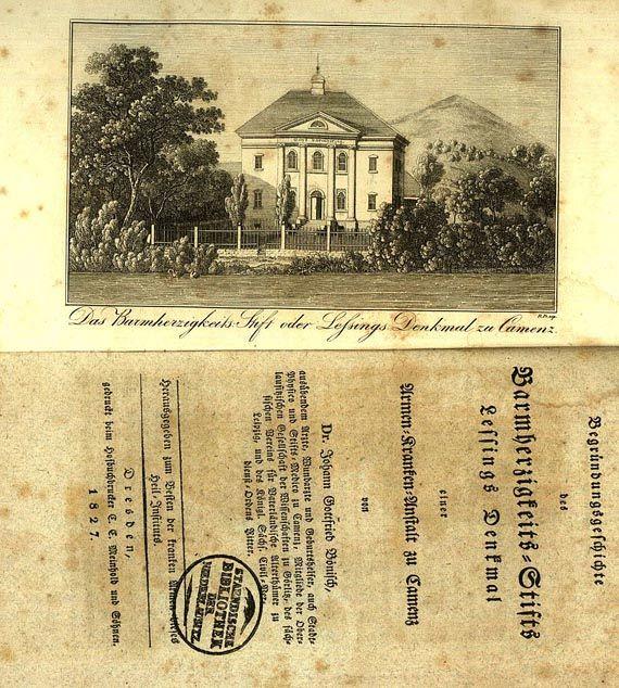 Gotthold Ephraim Lessing - Denkmal. 1791 Dabei: begründungsgeschichte, zus. 2 Bde.