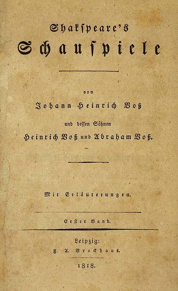 William Shakespeare - Schauspiele, 9 Bde. 1818. (149)