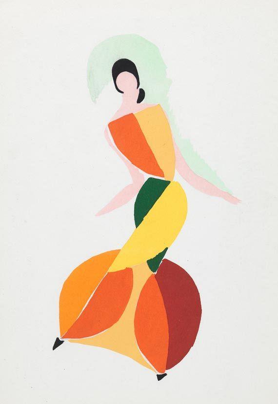 Sonia Delaunay-Terk - J. Damase, Robes Poèmes. 1969. -