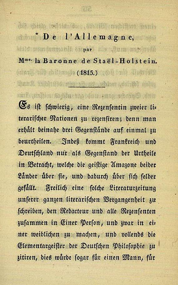(d. i. J. P. Friedrich Richter Jean Paul - Kl. Bücherschau, 1825 + Fastenpredigten, 1817, zus. 2 Werke
