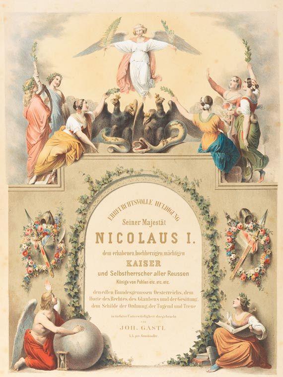 Nikolaus I. Pawlowitsch - Gastl, Huldigung Nikolaus I.1850