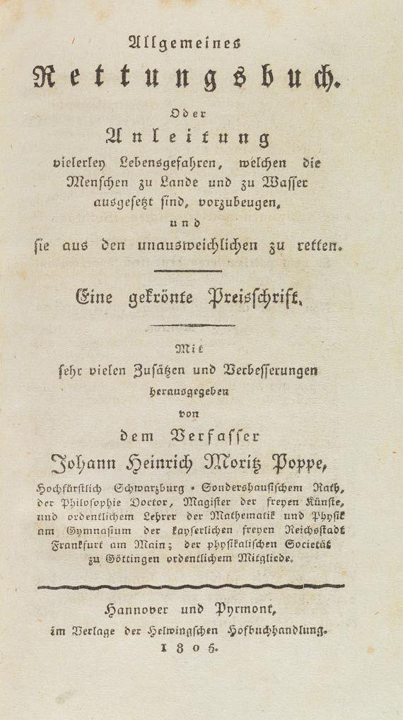 Johann Heinrich Moritz von Poppe - Allgemeines Rettungsbuch. 1806 -