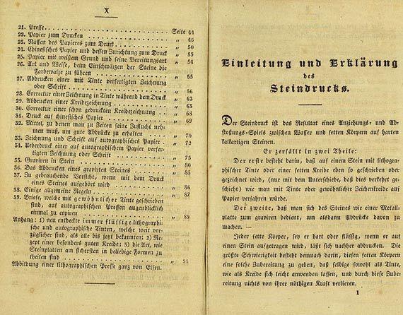 Hove, F. B. van - Der Steindruck. 1828