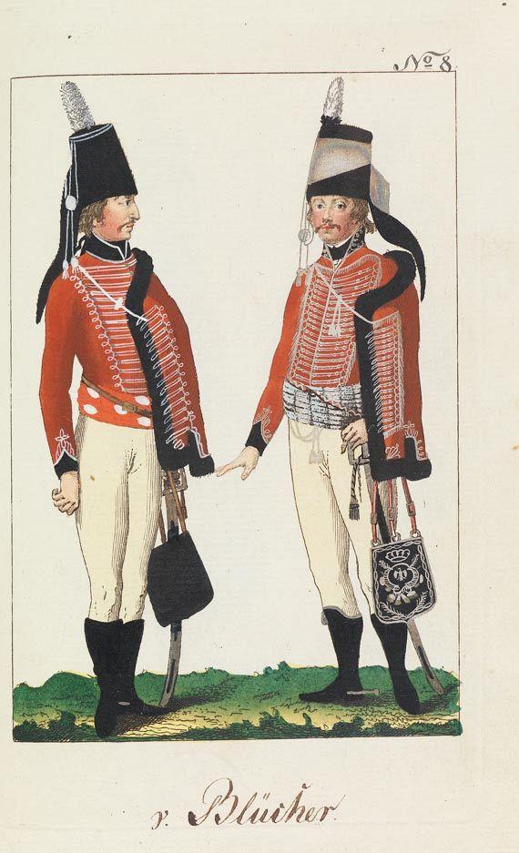 August Leopold Ramm - Abbildungen von allen Uniformen. -