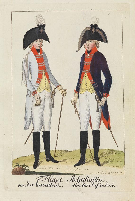 August Leopold Ramm - Abbildungen von allen Uniformen.