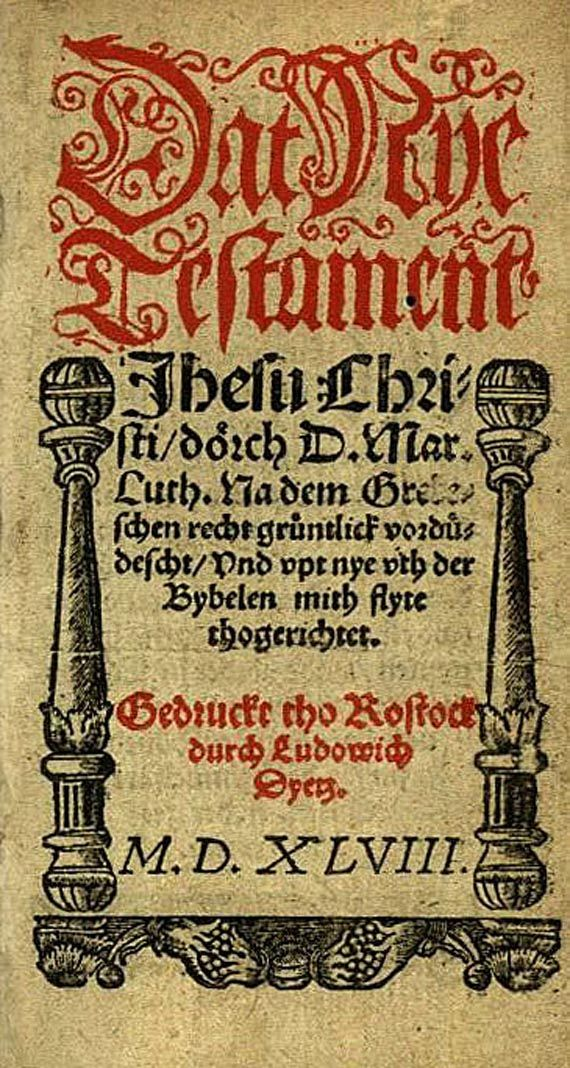 Biblia germanica - Dat Nye Testament. 1548-1553.