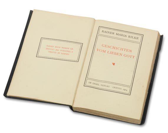 Rainer Maria Rilke - Geschichten vom lieben Gott. 1904.