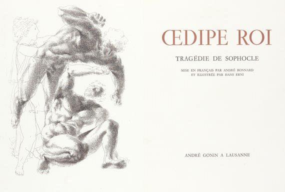 Erni, H. - Oedipe Roi. Sophocle. 1946.