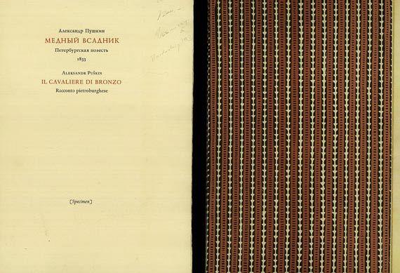 Bodoni - Puschkin, A., Il Cavaliere die Bronzo. 1968.