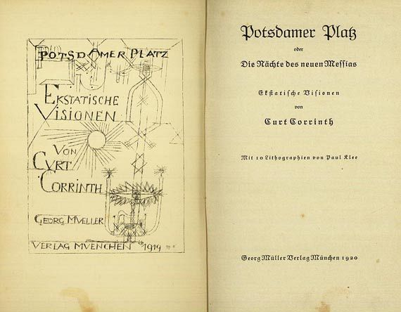 Paul Klee - Corrinth, Curt, Klee, Potsdamer Platz.1920