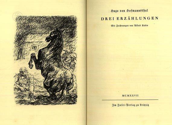 Hugo von Hofmannsthal - Drei Erzählungen. 1927.