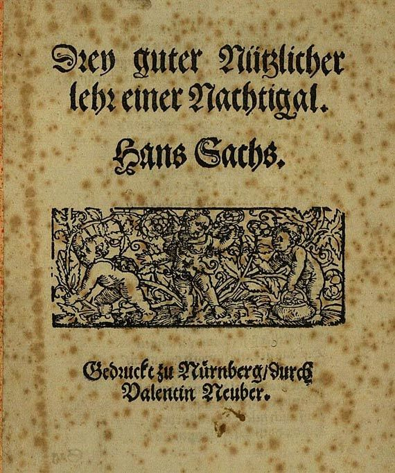 Hans Sachs - Nachtigal. 1560