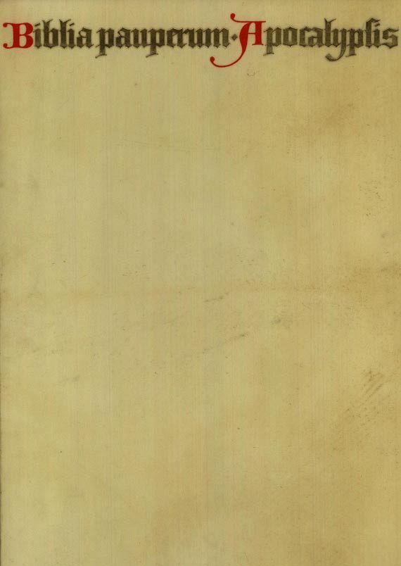 Faksimile - Biblia Pauperum. Faks. 1977