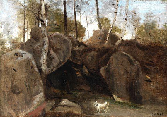 Jean-Baptiste Camille Corot - Im Wald von Fontainebleau