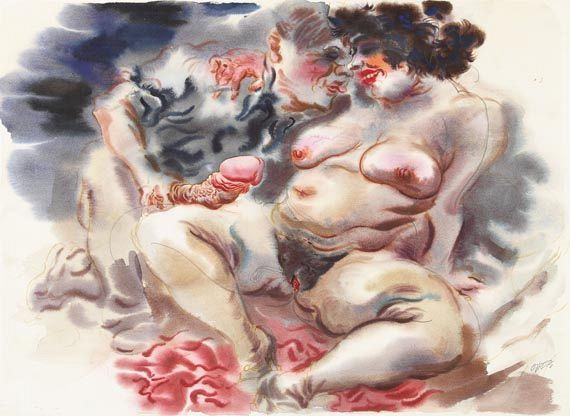 George Grosz - Erotische Szene